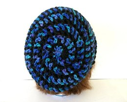 Lace Spiral Slouch hat