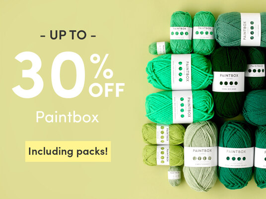 Up to 30 percent off Paintbox. Including packs!