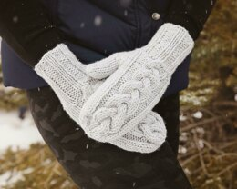 Cozy Cable Knit Mittens