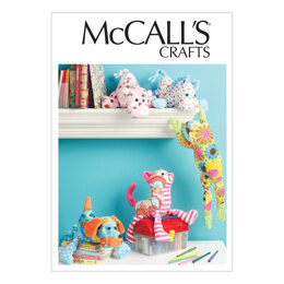 McCall's Stuffed Animals M6485 - Paper Pattern Size One Size Only