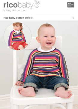 Striped Cardigan and Jumper in Rico Baby Cotton Soft DK - 175