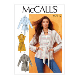 McCall's Misses' Jackets, Vest and Belt M7912 - Sewing Pattern
