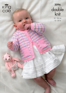 Cardigan, Sweater and Accessories in King Cole Baby DK - 3096