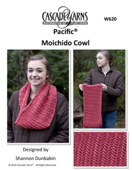 Moichico Cowl  in Cascade Yarns Pacific - W620 - Downloadable PDF