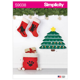 Simplicity Holiday Countdown Calendar & Accessories 9038 - Sewing Pattern