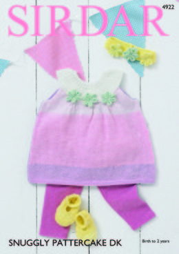 Pinafore Dress, Shoes & Headband in Sirdar Snuggly Pattercake DK - 4922 - Downloadable PDF