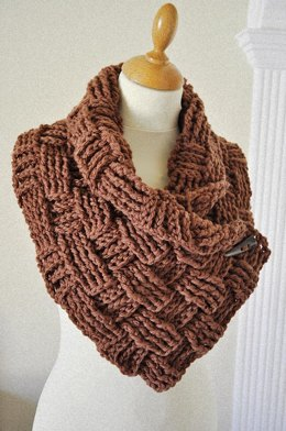 Easy Crochet Basketweave Neckwarmer