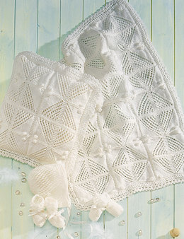 Pram Cover, Cushion and Accessories in Stylecraft Wondersoft DK - 4522