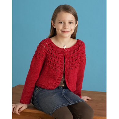 Fresh Picked Color 3/4 Sleeve Cardigan in Lion Brand Cotton-Ease - 70807B