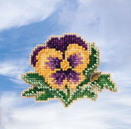Mill Hill Spring Bouquet 2019 - Tricolor Pansy Seasonal Ornament - 3in x 2.25in