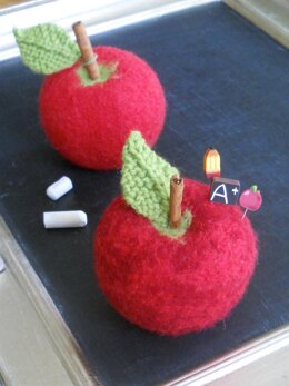 Felted Apple Pincushion