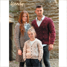 Family Cardi in Wendy Aran with Wool - 5740