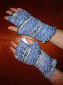 Tunisian Fingered Mittens