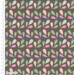 Craft Cotton Company Little Meadow Birds - Leaves