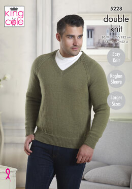 Sweaters Larger Sizes in King Cole Majestic DK - 5228 - Leaflet