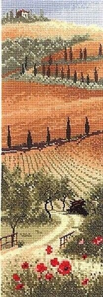 Heritage Crafts Tuscany, 14 count Aida Cross Stitch Kit - Multi
