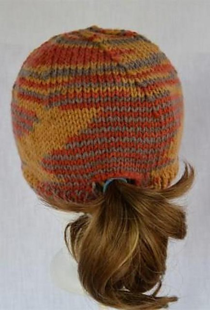 Plano Ponytail Hat Knitting pattern by Kathleen Crum  75ef39b5c00