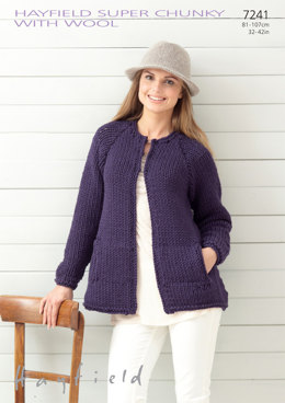 Coat in Hayfield Super Chunky with wool - 7241