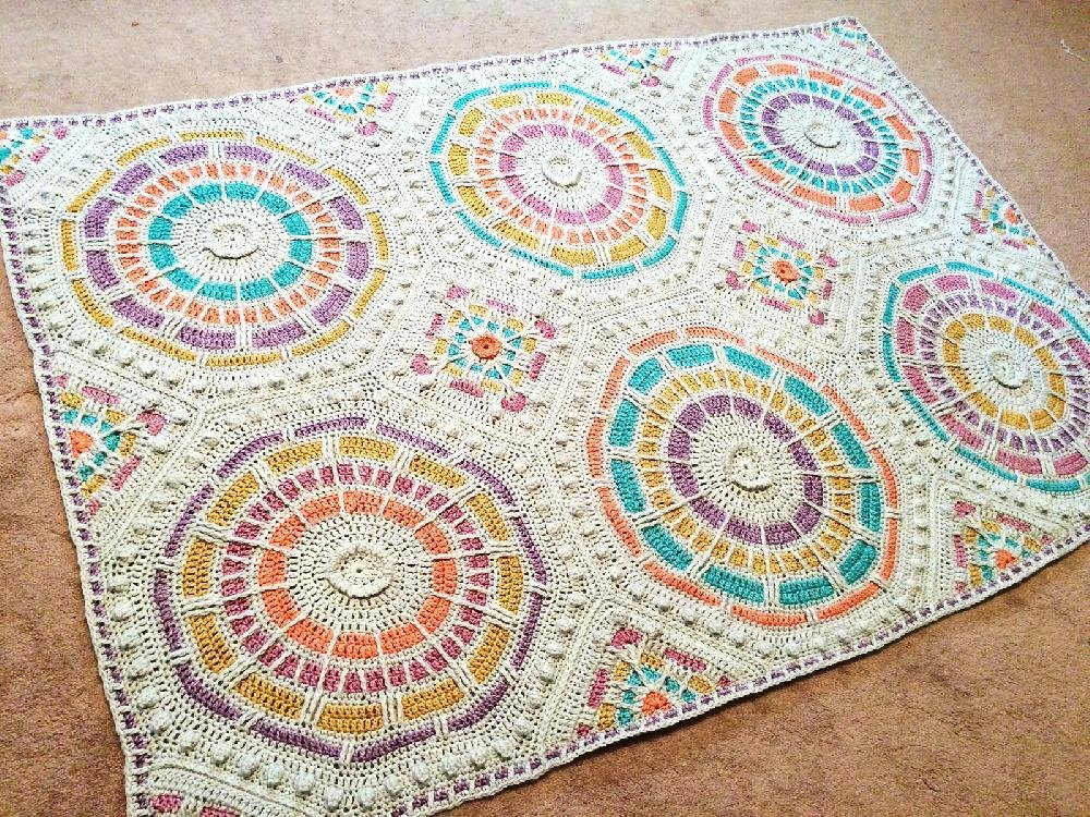 Summer Mosaic Afghan Crochet Pattern By Julie Yeager
