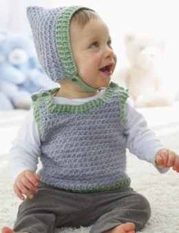 Elfin Hat and Vest in Patons Beehive Baby Sport - Downloadable PDF