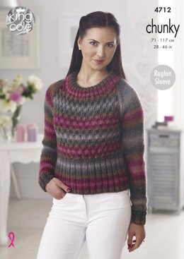 Sweaters in King Cole Riot Chunky - 4712