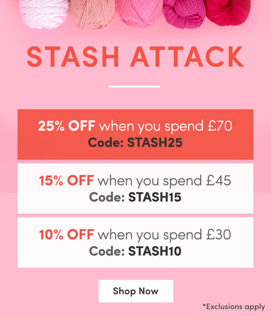 SAVE 25 percent on orders over £70. Includes clearance! Code: STASH25