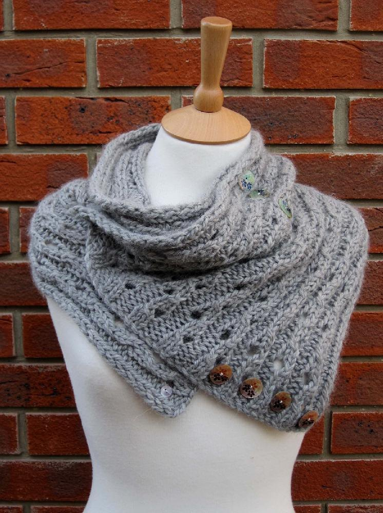 Rib Lace Scarf/Cowl Knitting pattern by Fiona Morris ...