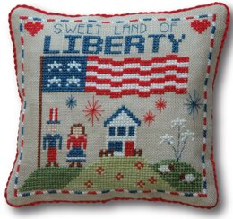 Tiny Modernist Liberty Pillow - Leaflet
