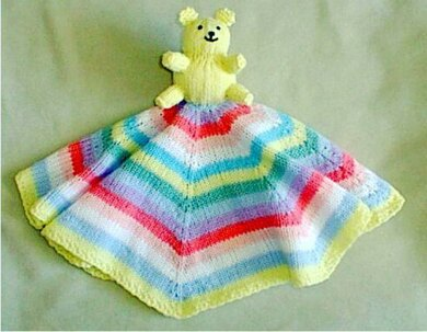 95e09acb944 ONE PIECE SECURITY  BLANKIE  Knitting pattern by Frugal Knitting ...