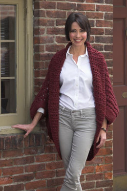 Woman's Oversized Shrug in Plymouth Yarn De Aire - 2391 - Downloadable PDF