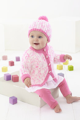 Childrens Coat, Hat, Sweater with a Hood in King Cole Cherish Dash DK - 5585 - Leaflet
