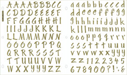 Sticko Alphabet Stickers - Brush Golden Foil