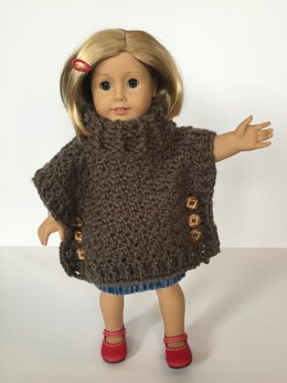 Sophia Doll Poncho with Cowl