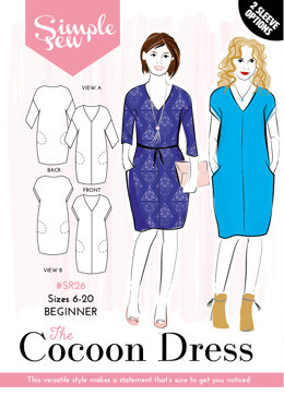 Simple Sew Patterns The Cocoon Dress SR26 - Sewing Pattern