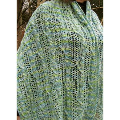 Easy Abiko Cable Lace Shawl