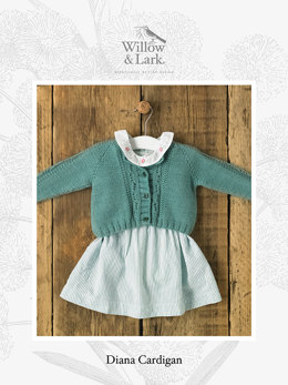Diana Cardigan in Willow and Lark Nest - Downloadable PDF