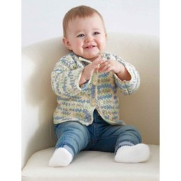 Baby's First Cardigan in Bernat Baby Sport Ombres - Downloadable PDF