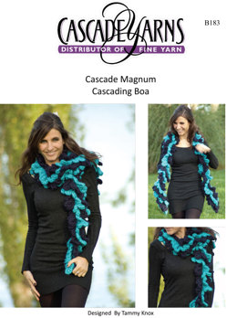 Cascading Waves Boa in Cascade Magnum - B183