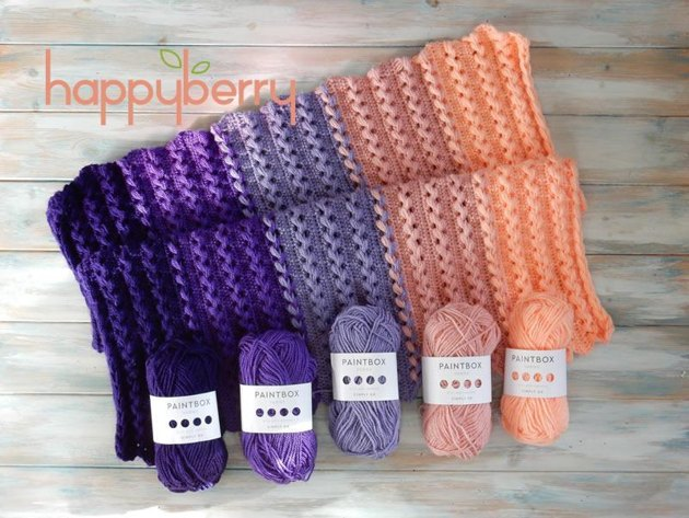 Loop Stitch Braid Baby Blanket Crochet Pattern By