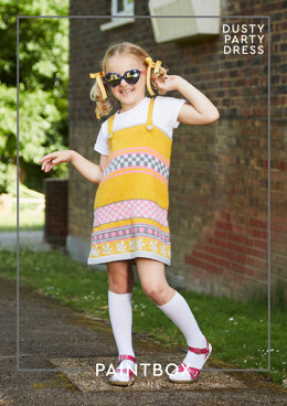 """""""Dusty Party Dress"""" - Free Dress Knitting Pattern in Paintbox Yarns Simply DK"""