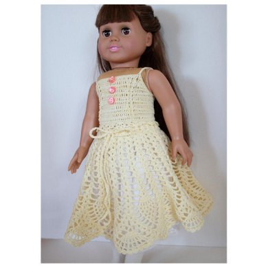 "Pineapple Dream Skirt for American girl and other 18"" dolls dolls"