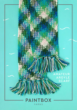 Amateur Argyle Scarf - Free Crochet Pattern in Paintbox Yarns Chunky Pots