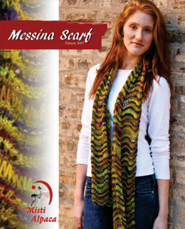 Messina Scarf in Misti Alpaca Hand Paint Sock - 3007
