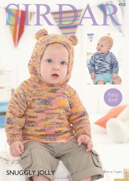 Hooded and Round Neck Sweaters in Sirdar Snuggly Jolly - 4722 - Downloadable PDF