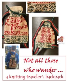 Not All Those Who Wander backpack
