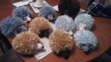 Sparkly Hedgehog Knitting Pattern : Sparkly hedgehogs knitting project by Delia E LoveKnitting