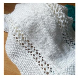 Seed and Lace Baby Blanket - Newborn