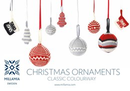 """Christmas Ornaments"" - Knitting Pattern For Christmas in MillaMia Naturally Soft Merino"