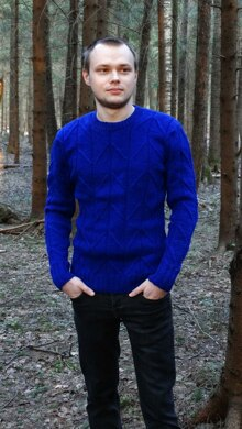 Navy Blue Casual Pullover