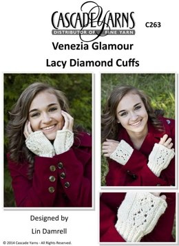 Lacy Diamond Cuffs in Cascade Venezia Glamour - C263